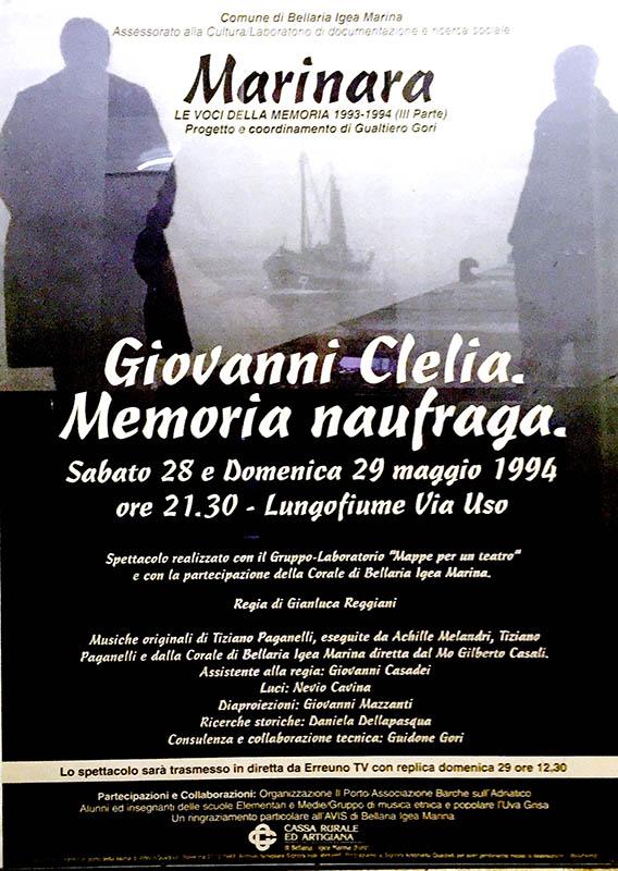Giancarlo Tonti - Giovanni Clelia. Memoria naufraga.